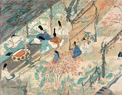Kitano_Tenjin_Engi_Emaki_-_Jokyo_-_Michizane_in_exil